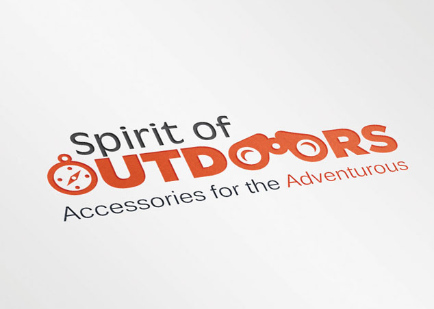 Logo design for spirit of outdoors, travel accessories company