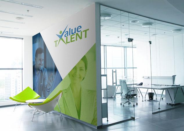 Value Talent - logo design for recruitment consultancy