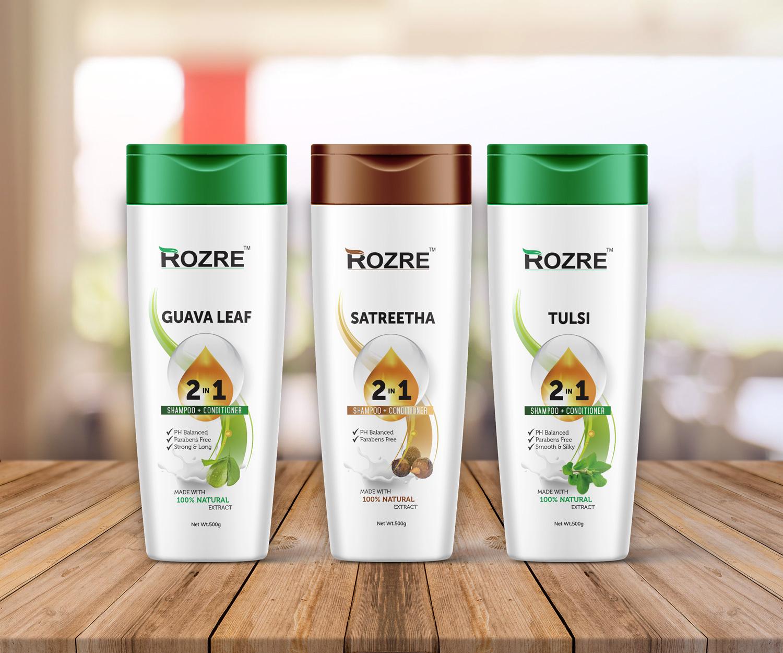 rozre shampoo packaging design