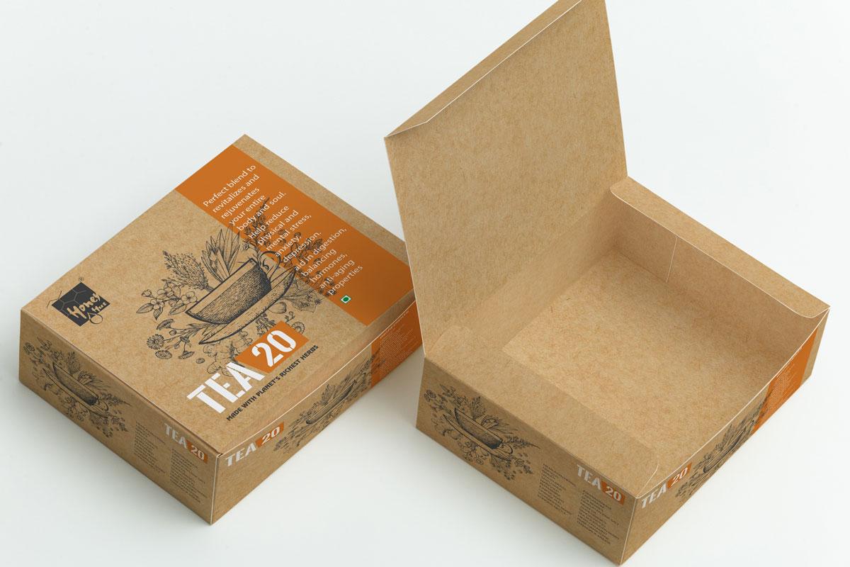 Tea 20 box packaging design for Honey Hut