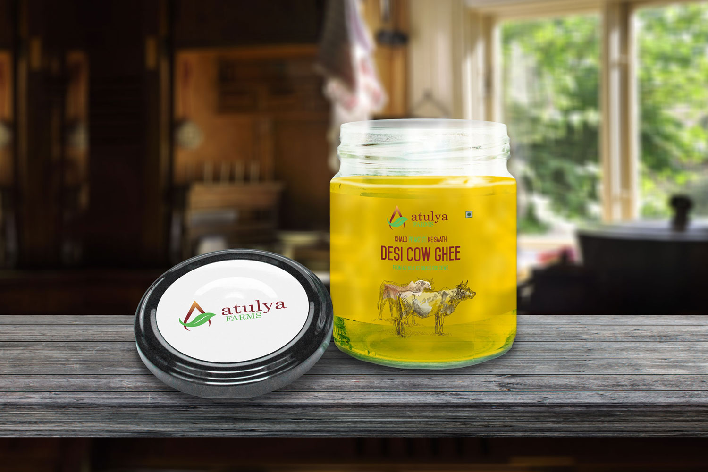 Atulya Farms Ghee Packaging Design
