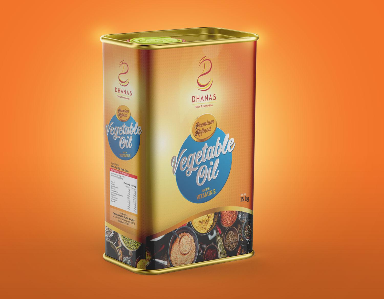 Dhanas Vegetable Oil Packaging Design