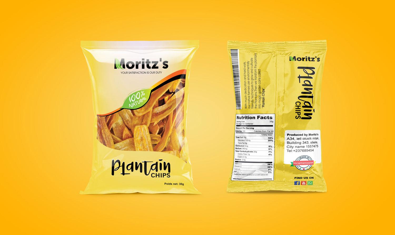Packaging Design for plantain chips - moritz's