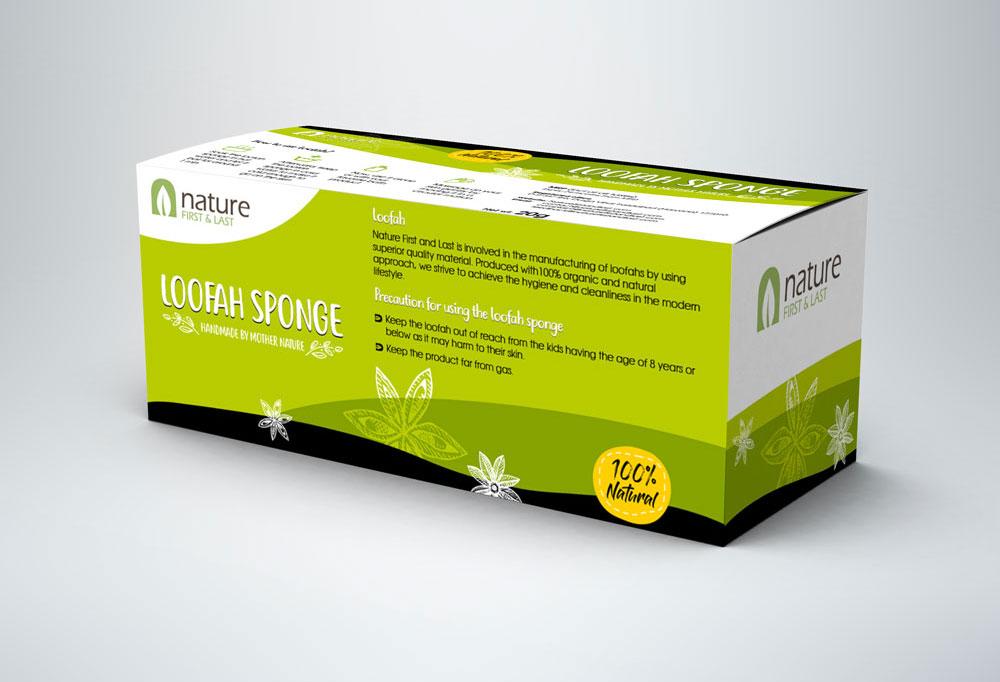 Box Packaging Design for loofah sponge