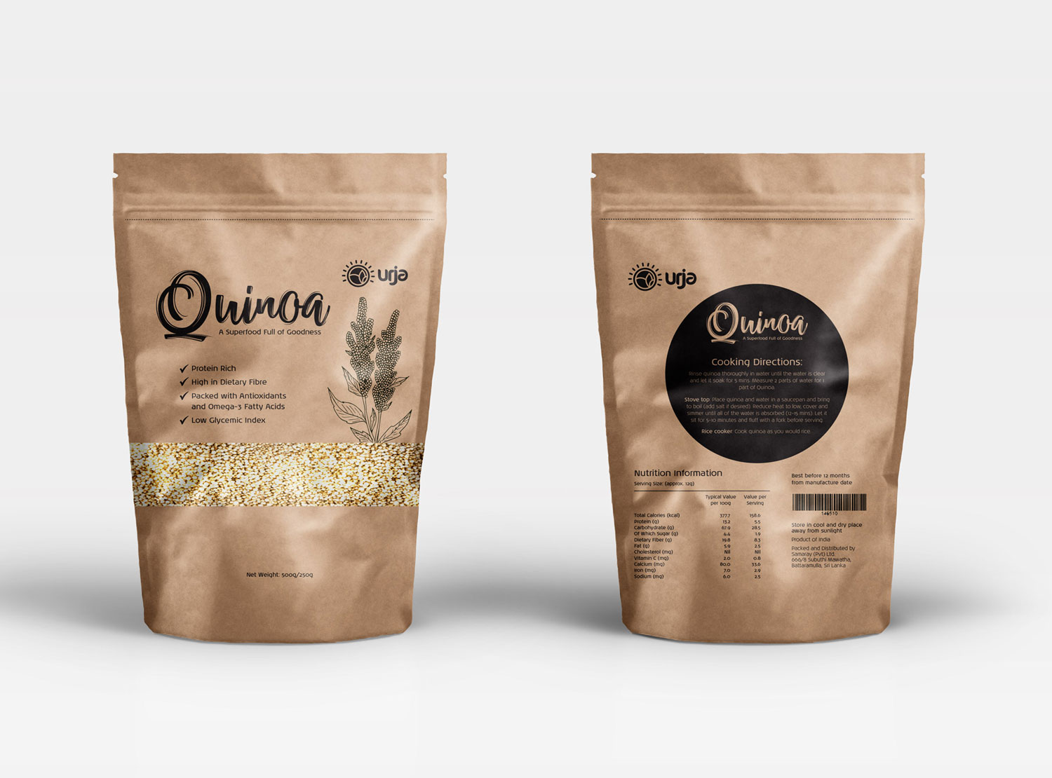 Organic Food packaging design for quinoa by Urja